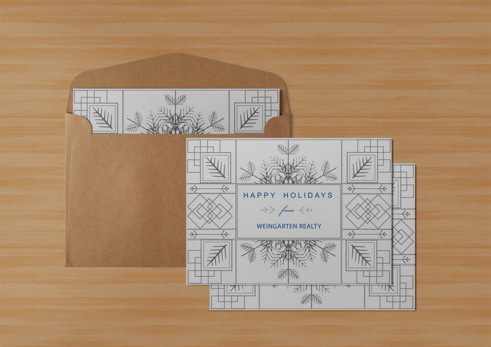holiday card mockup